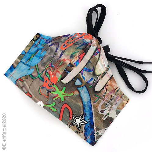 urban graffiti cotton print facemask
