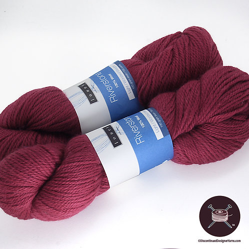 Riverstone Wool - Burgundy - 2 avail, different dyelots