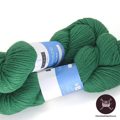 green wool worsted weight yarn