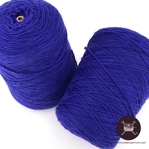 Cobalt blue coned wool yarn