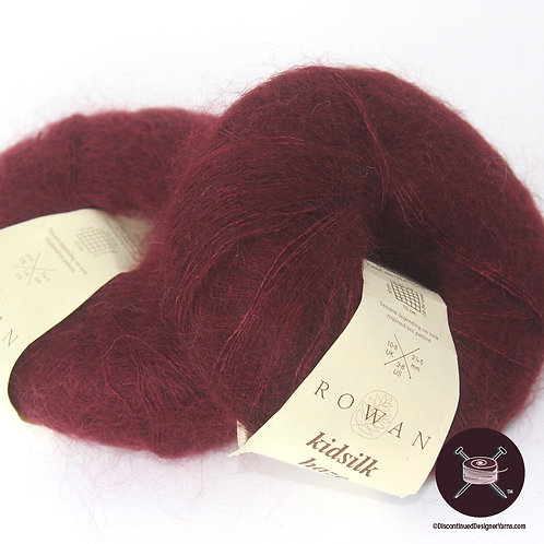 dark red lacewight mohair silk yarn