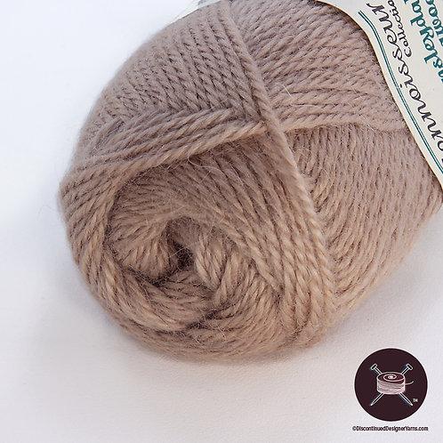 Wensleydale longwool taupe yarn worsted weight