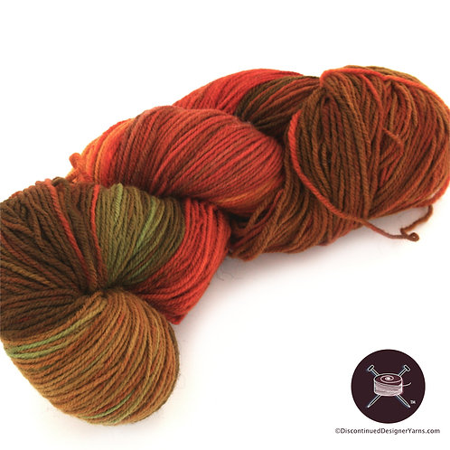 sock yarn autumnal colors rust olive