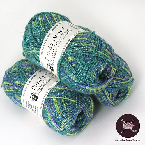 seascape colors bamboo and wool yarn
