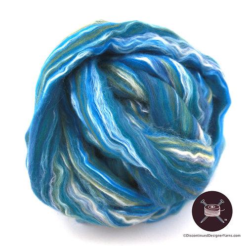 fiber merino silk bluegreen roving 4oz.