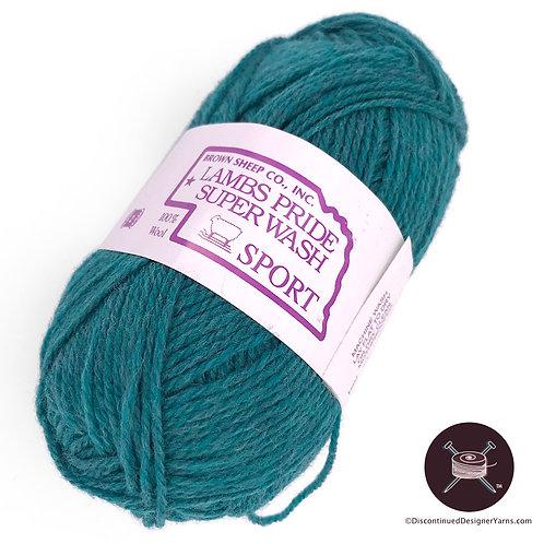 Precious Emerald Teal heather sportweight wool yarn