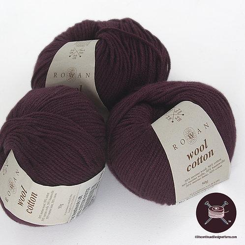 Rowan Wool Cotton - Deep Plum - 3 avail