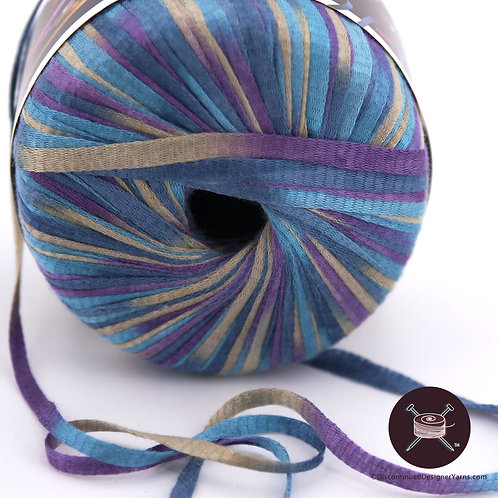 Slinky rayon ribbon yarn from Unger, multicolor
