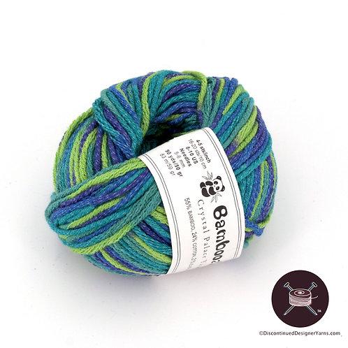 Crystal Palace Bamboozle bamboo cotton yarn bluegreens