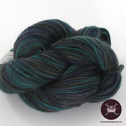 Handspun dark blue teal mix yarn