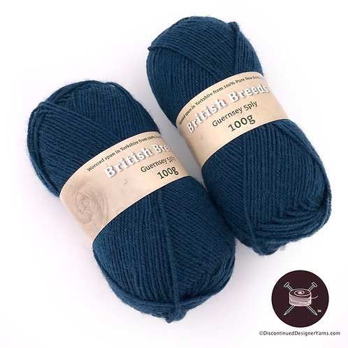 British Breeds 5 ply gansey yarn dark teal