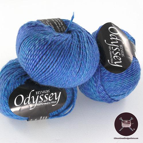 medium blue Italian merino wool yarn
