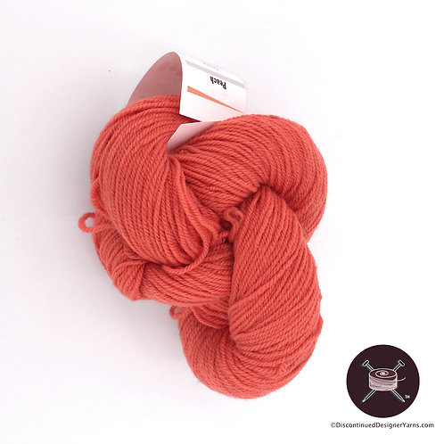 Peach (dark peach) fingering weight wool yarn