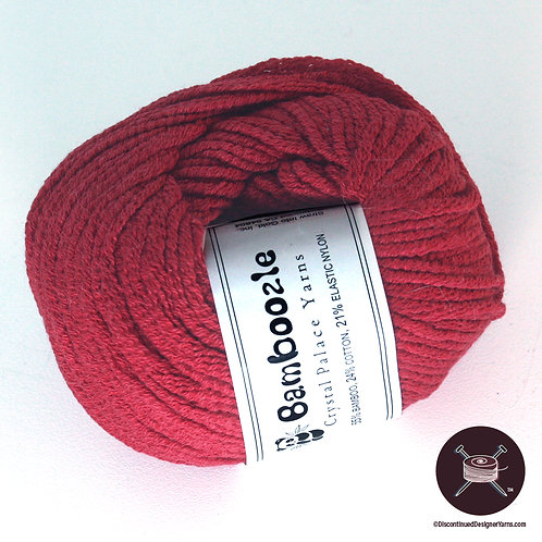 rich cool coral red bamboo and cotton yarn