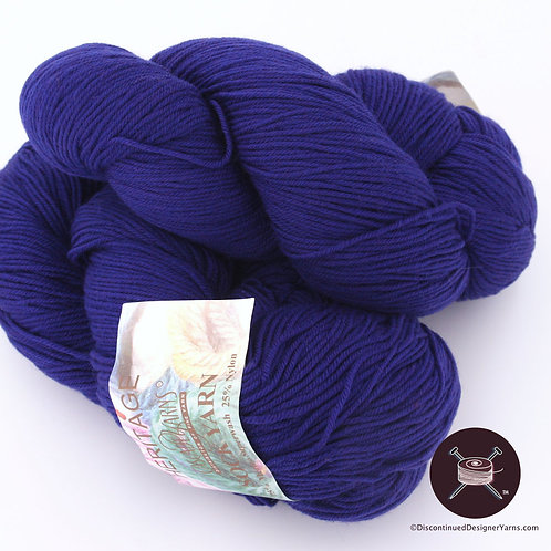 Sapphire blue wool sock yarn from Cascade