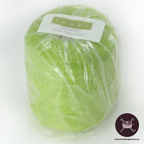 lichen green mohair yarn on cone