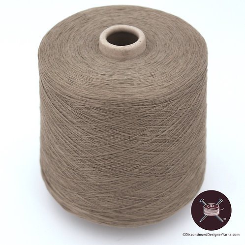 Taupe mercerized cotton 2/20 on huge cone