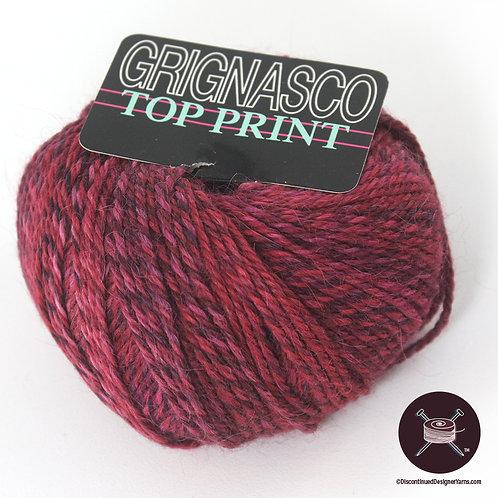 varigated rose alpaca yarn