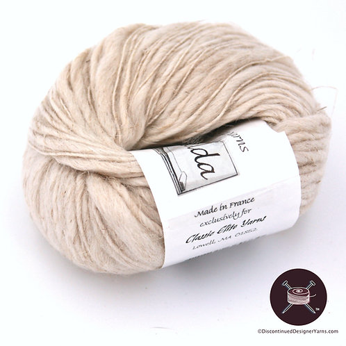 Oatmeal color wool linen thick thin yarn from Classic Elite - Zelda
