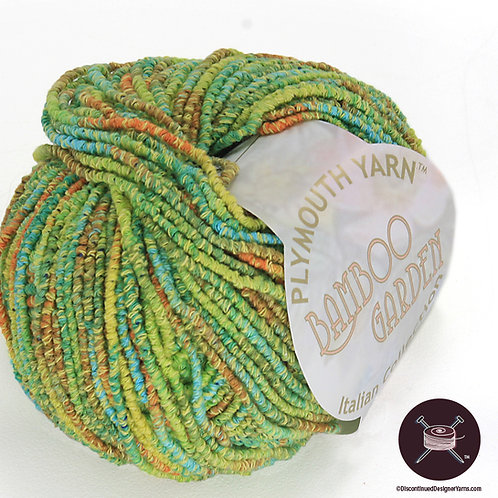 gold green aqua rust bamboo yarn