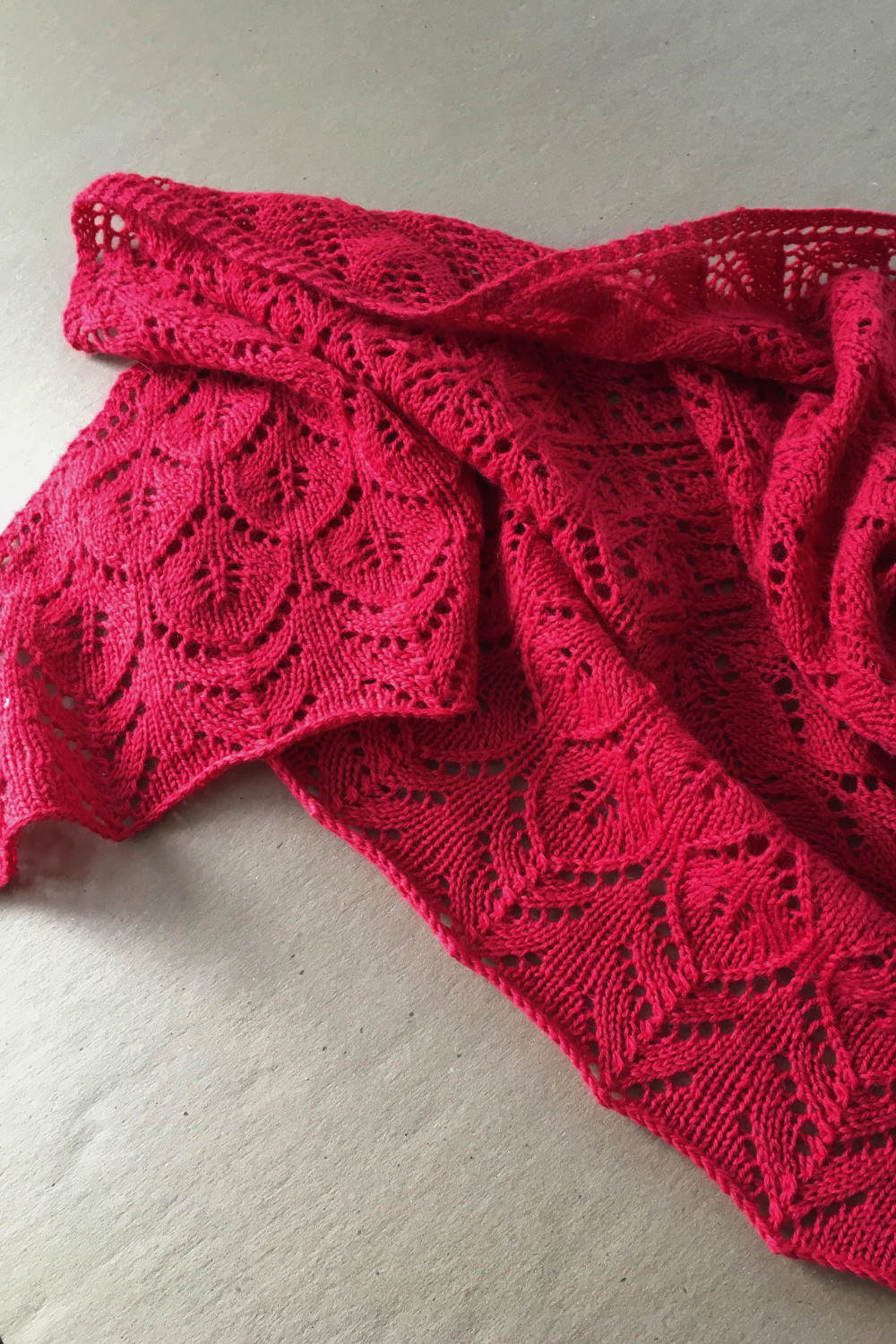 new design for a lace shawl