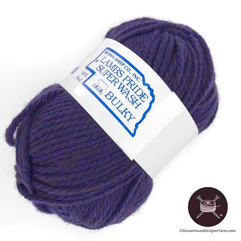 Brown Sheep superwash bulky wool yarn purple heather