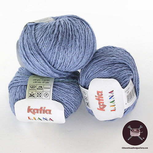 light denim blue cotton linen rayon Katia Liana yarn