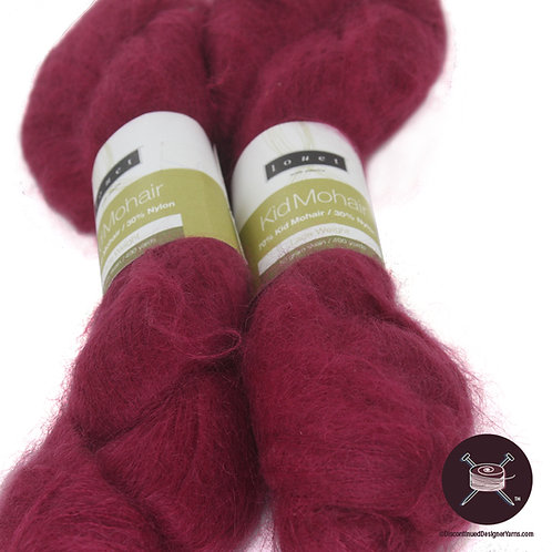 plum laceweight mohair
