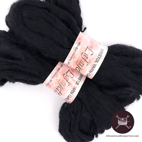 Plymouth Suri Alpaca, black bulky yarn, very soft and cuddly