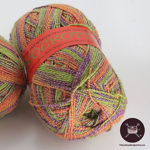 spring flower color Sockotta Italian fingering weight yarn