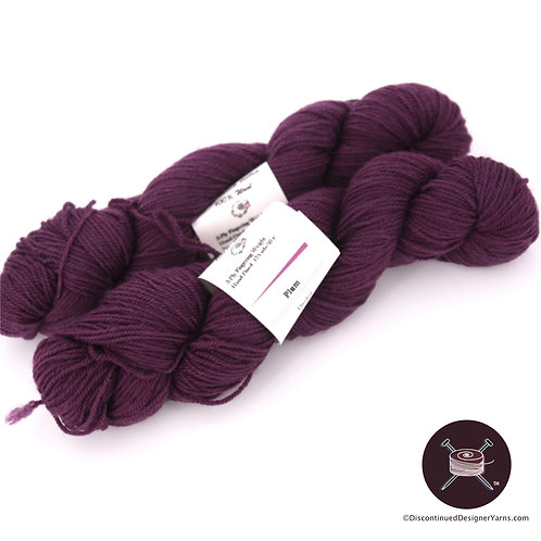 Sheldridge Farm Plum fingering weight wool yarn