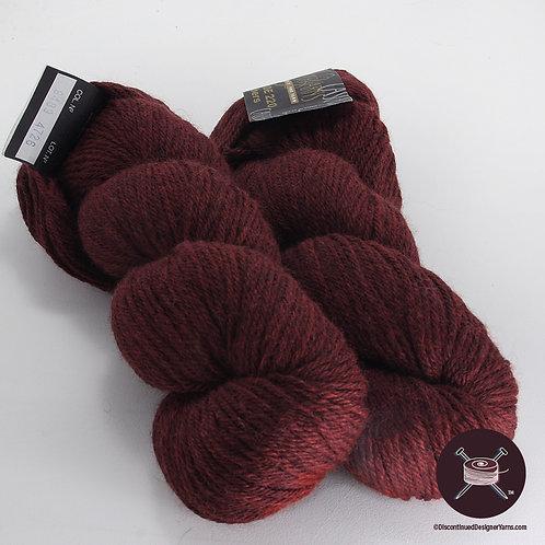 burgundy heather worsted weight Cascade 220 yarn