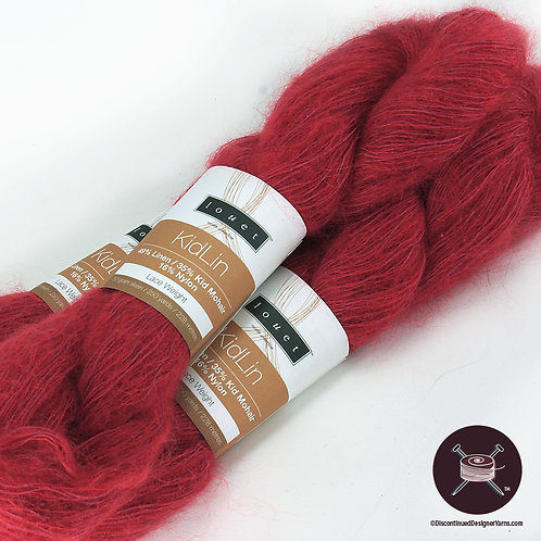 tomato red linen and mohair yarn