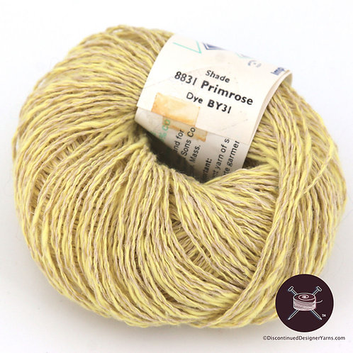 Irish linen and cotton soft yellow yarn