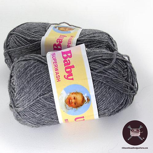 dark grey heathered wool fingering weight yarn