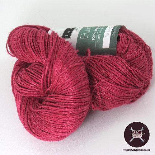 Berry Red Euroflax linen
