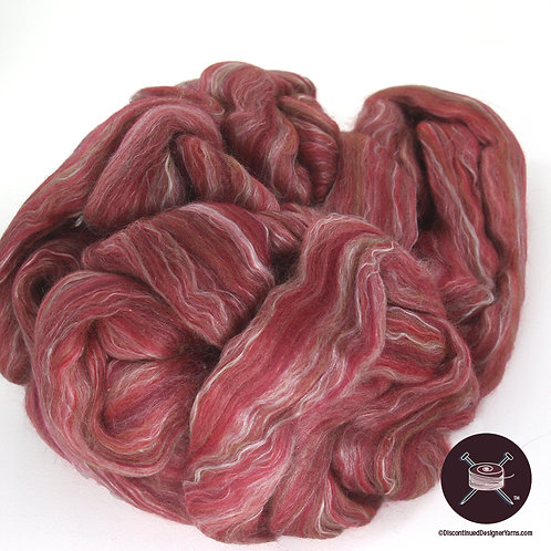 70% merino wool 30% silk roving for spinning