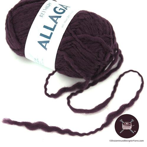Dark purple superbulky thick and thin yarn