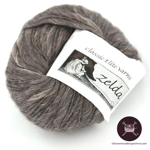 Classic Elite Zelda yarn wool linen blend charcoal grey