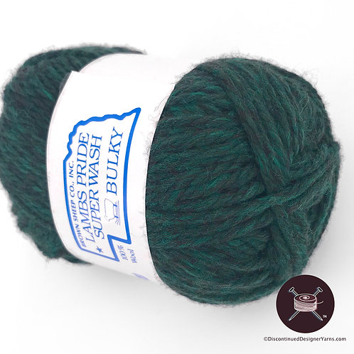 Deep heather pine green wool yarn