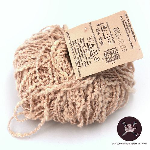thick thin textured cotton viscose vintage yarn