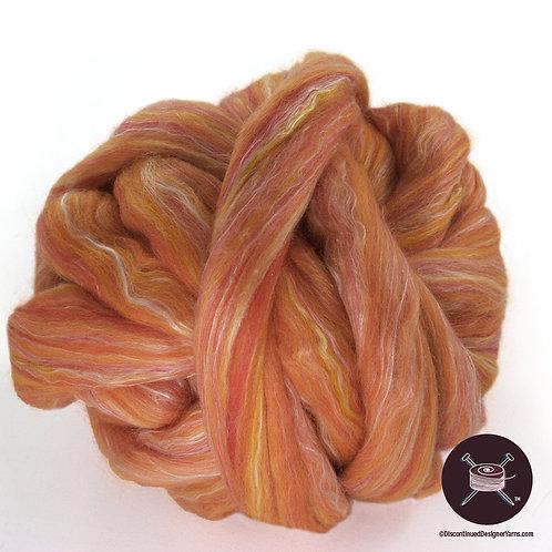 persimmon merino and silk roving