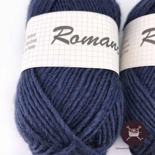 navy or indigo wool viscose blend dk yarn