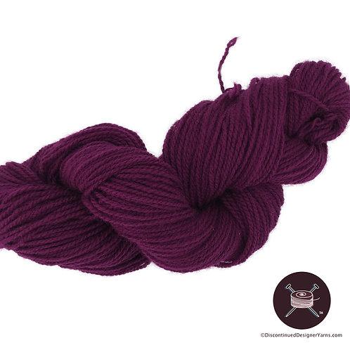 Heavy worsted rustic wool yarn, magenta plum color