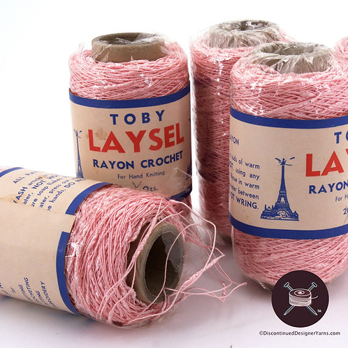 Vintage pink rayon seed yarn
