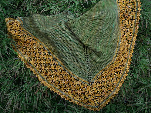The Gilded Age shawlette pattern