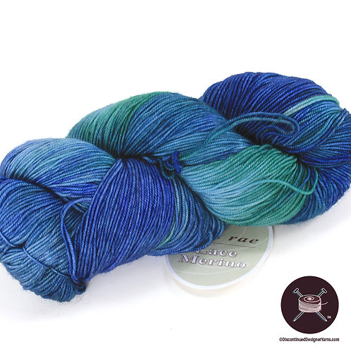 sea green and blue merino fingering weight yarn