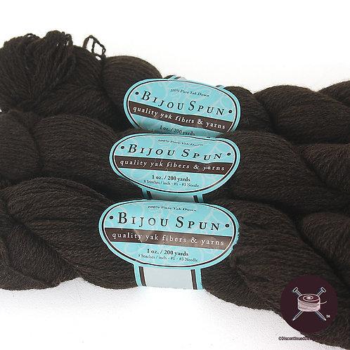 chocolate brown yak fiber yarn
