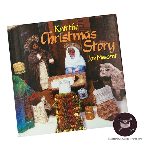 Christmas knitting nativity scene book