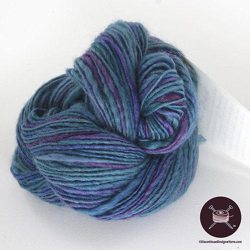 handspun bfl wool yarn in blues and purples